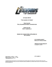 DC's Legends of Tomorrow script title page - The Legion of Doom
