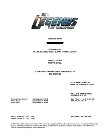 File:DC's Legends of Tomorrow script title page - Star City 2046.png
