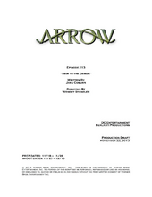 Arrow script title page - Heir to the Demon