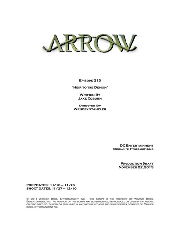 File:Arrow script title page - Heir to the Demon.png