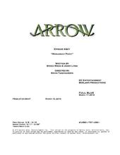 Arrow script title page - Monument Point