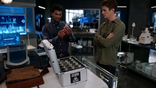 Ramsey Rosso and Barry Allen work together in S.T.A.R. Labs
