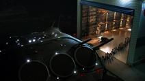 Alienígenas andando para uma nave