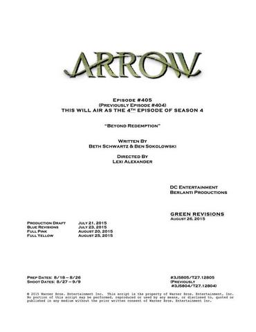 File:Arrow script title page - Beyond Redemption.png