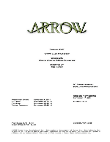 File:Arrow script title page - Draw Back Your Bow.png