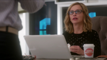 Cat Grant drinking Home Roasted coffee