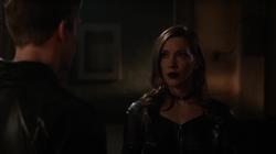 Earth-2 Laurel confronts Hunter