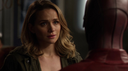 Patty Spivot talking with Flash before departure (3)