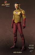 The Flash T3 Kid Flash Concept Art