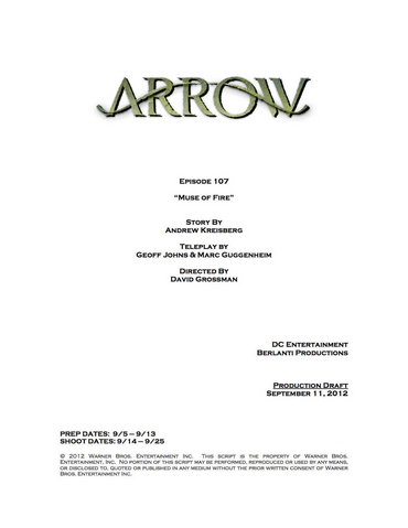 File:Arrow script title page - Muse of Fire.png