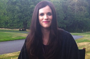 Jessica De Gouw on-set