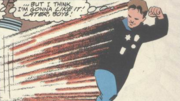 Vince Everett running away from S.T.A.R. Labs at superhuman speeds