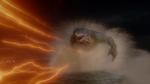 King Shark chasing Flash