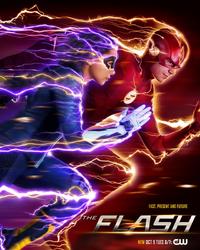 The Flash season 5 poster - Fast, Present and Future