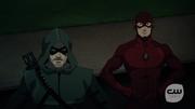Arrow and Flash talki in Vixen in her new look