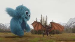 As Lendas utilizam os totens para invocar um Beebo
