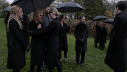 Anatoly at Oliver's funeral