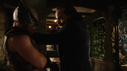 Vandal Savage kills Carter Hall