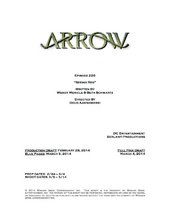 Arrow script title page - Seeing Red