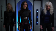 Psi, Livewire and Saturn Girl in the Legion airlock