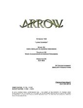 Arrow script title page - Lone Gunmen