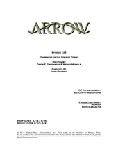 Arrow script title page - Darkness on the Edge of Town