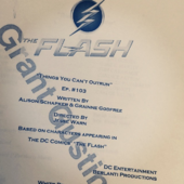 The Flash script title page - Things You Can't Outrun