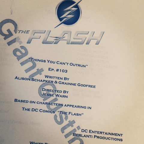File:The Flash script title page - Things You Can't Outrun.png