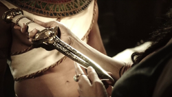 The Amon Dagger given to Priestess Chay-Ara for the first time