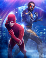 Crisis on Infinite Earths - Stream the first 3 promo 3 textless