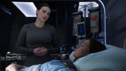 Lena observing Samantha's condition