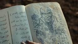 Desenho de Mar Novu no diário de Al-Faith