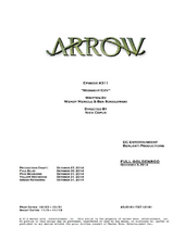 Arrow script title page - Midnight City