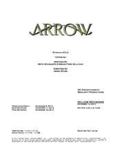 Arrow script title page - Uprising