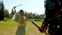 Masako Yamashiro fights the shogun