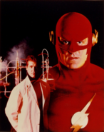 The Flash (CBS) - Barry Allen and the Flash promotional image