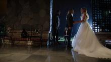 Oliver and Sara say goodbye to Laurel