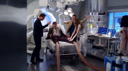 Ralph Dibny with his legs stretched out