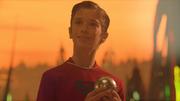 Kal-El holding a hologram orb