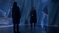 Lena and Supergirl stand off in the Fortress of Solitude