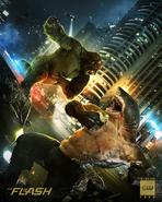 The Flash Temporada 5 King Shark vs Gorila Grodd
