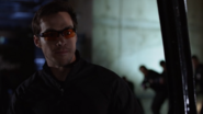 Mon-El as vigilante with sunglasses