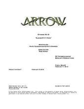 Arrow script title page - Eleven-Fifty-Nine