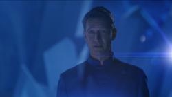 Zor-El's hologram talking to Kara