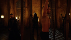 Ra's al Ghul initiates Oliver into the League of Assassins