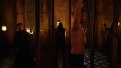 Ra's al Ghul initiates Oliver into the League of Assassins