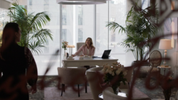 Lillian in her office at Luthor Foundation