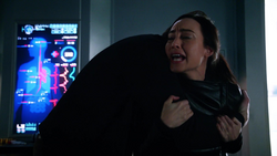 Ray comforts Nora after her father's death