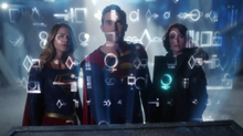 Supergirl, Superman and Alex at the Fortress of Solitude