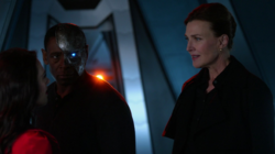 Lena and Lillian reunite on the Daxamite ship